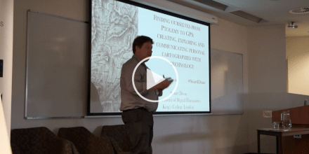 Dr Stuart Dunn - Finding ourselves from Ptolemy to GPS: creating, exploring and communicating personal cartographies with technology